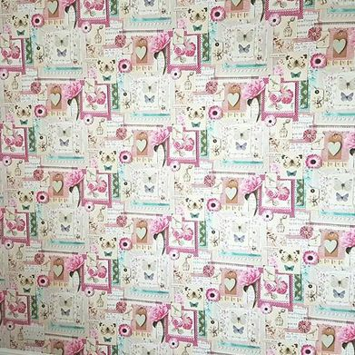 A wallpapered wall that has been completed by our team